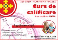 Curs de calificare - îngrijitor copii