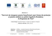 Conferință de lansare proiect FAMI/15.03.05