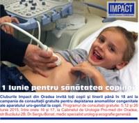 1  iunie pentru sănătatea copilului