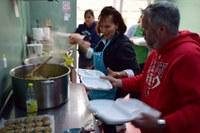 Voluntari americani la Masa Săracilor