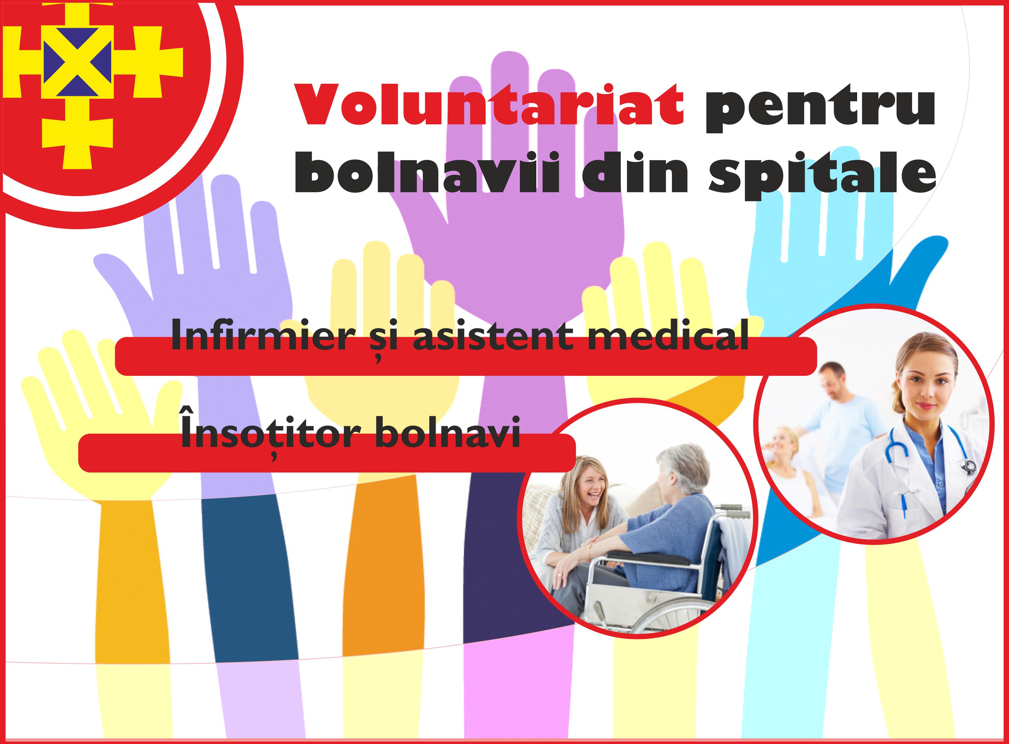 Înrolează-te ca voluntar pentru bolnavi